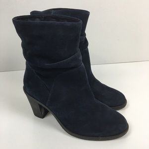 Vince Camuto Blue Suede Boots 10